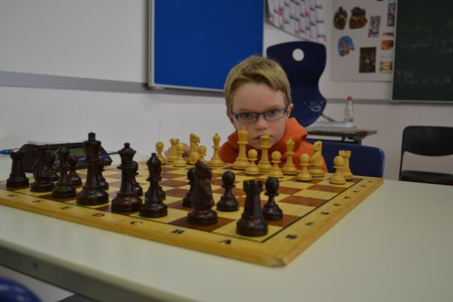 Jakob Gugel bei seinem ersten Einsatz in der U14